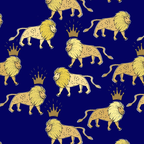 leo_lion_navy_and_gold