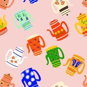 Tea Kettles in Pink