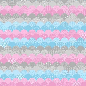 Scallop Sea (Pink and Blue Small)