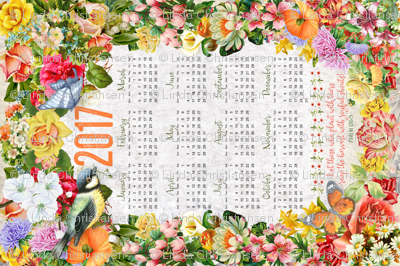 2017 Calendar Tea Towel ©Linda Christiansen