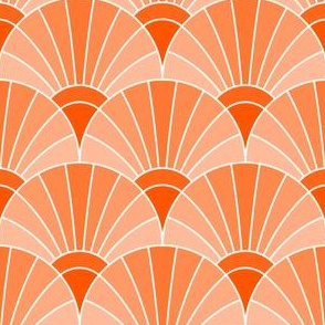 05868520 : fan scale : vermilion orange salmon coral