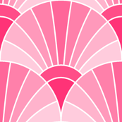 art deco fan scale : rose pink