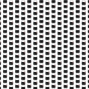 tiny bat mask print bow print