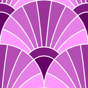 art deco fan scale : magenta purple