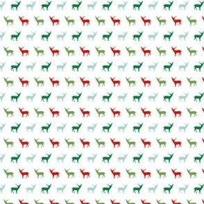 tiny christmas fabric cute red and green deer fabrics