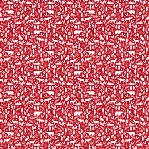 tiny woodland christmas red and white christmas xmas fabric