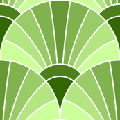 art deco fan scale : lime green