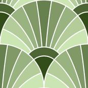 art deco fan scale : limestone khaki green