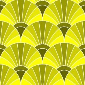 05868606 : fan scale : lemon yellow olive green