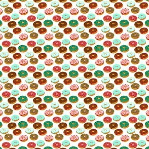 tiny christmas donuts red and green donuts doughnuts christmas fabric