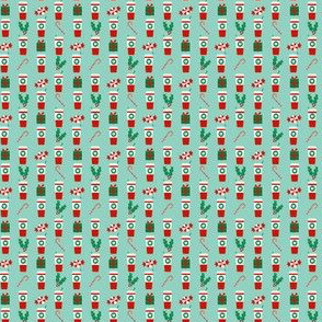 christmas tiny print peppermint latte christmas fabric tiny micro print