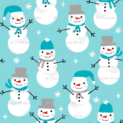 christmas snowmen print winter christmas fabric winter snowmen fabric