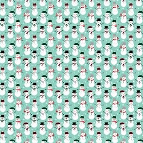 tiny christmas fabric snowmen mint and christmas cute christmas fabric