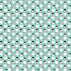 tiny christmas fabric snowmen mint and christmas cute christmas fabric