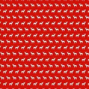 tiny red reindeer fabric cute christmas fabrics cute xmas holiday design