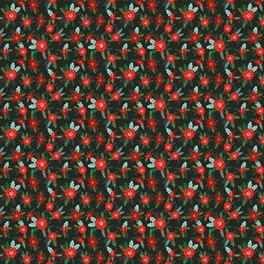 micro christmas florals fabric xmas christmas fabric poinsettia christmas