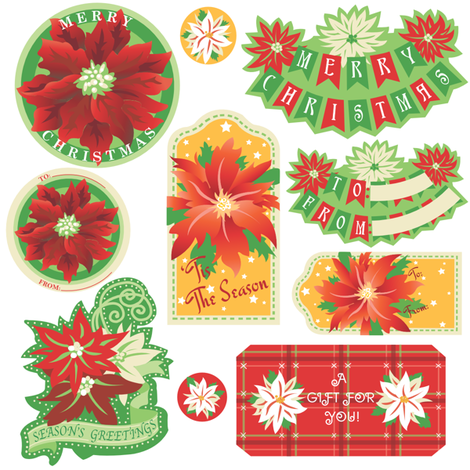 Poinsetta_tags fabric by julistyle on Spoonflower - custom fabric