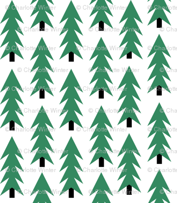 tiny christmas fabric christmas trees xmas holiday christmas fabric cute christmas trees green christmas trees