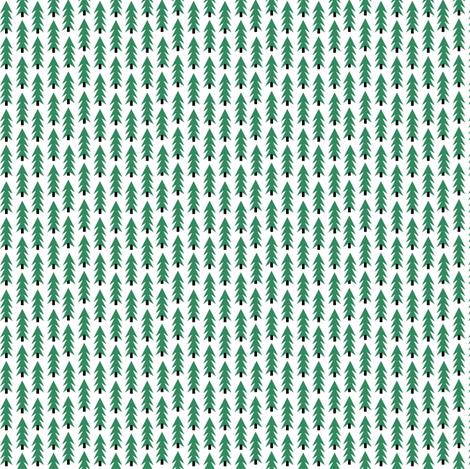 tiny christmas fabric christmas trees xmas holiday christmas fabric cute christmas trees green christmas trees fabric by charlottewinter on Spoonflower - custom fabric