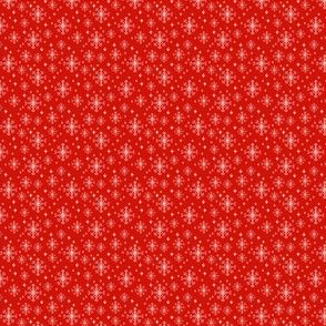 tiny christmas micro snowflakes tiny christmas mini print