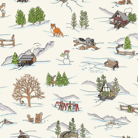WinterWonderlandToile fabric by blairfully_made on Spoonflower - custom fabric