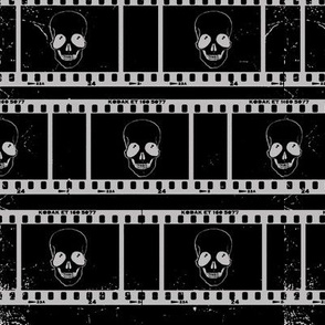 Skull Film Negative
