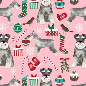 schnauzer christmas fabric christmas dogs fabric cute schnauzers fabric  christmas presents fabric cute christmas design