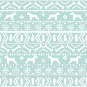 schnauzer christmas fair isle christmas fabric christmas dogs fabric cute schnauzers fabric