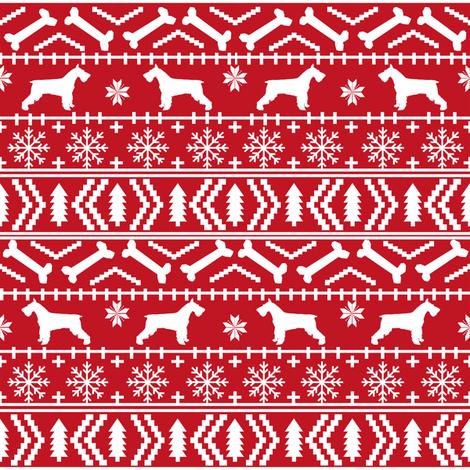 schnauzer christmas fair isle christmas fabric christmas dogs fabric cute schnauzers fabric  fabric by petfriendly on Spoonflower - custom fabric