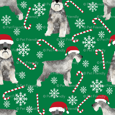 schnauzer christmas candy cane snowflakes christmas fabric christmas dogs fabric cute schnauzers fabric