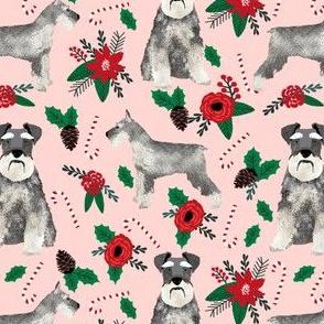 schnauzer christmas poinsettia christmas fabric christmas dogs fabric cute schnauzers fabric