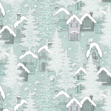 Little_Alpine_Village fabric by j9design on Spoonflower - custom fabric