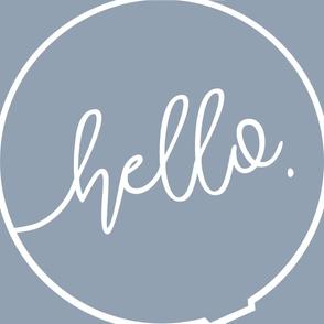 Sew your own DIY Baby Play mat Roundie - Hello - Blue Denim