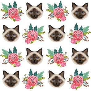 birman cat florals fabric cute birman cat design best birman cat florals cute seal point cat