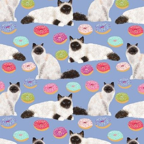 birman cat fabric seal point birmans cute donuts fabric cute cat fabric donuts fabric