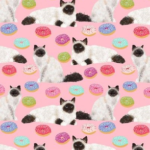 cat birman donuts cute cats donuts fabric cute cat design best cat lady fabrics cute birman seal point birman cat