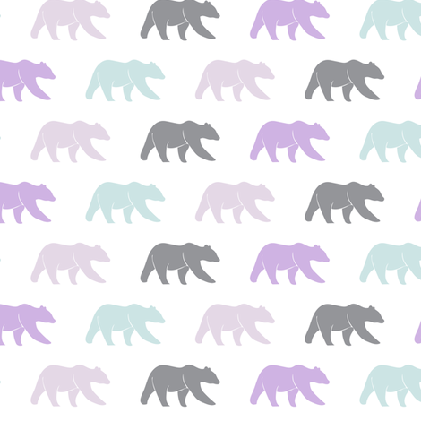 multi bear (small scale) || the lilac grove collection fabric by littlearrowdesign on Spoonflower - custom fabric