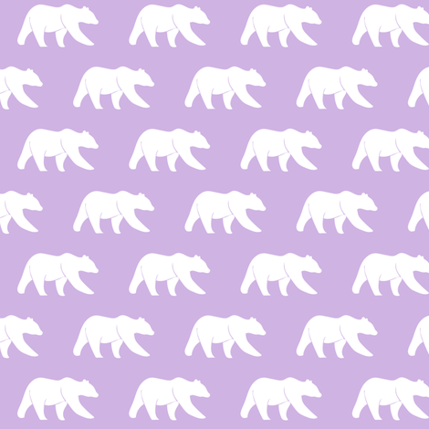 bear (small scale) lilac || the lilac grove collection fabric by littlearrowdesign on Spoonflower - custom fabric