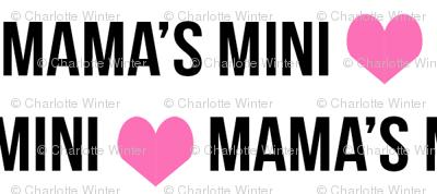 mama's mini personalized text girls cute fabric hearts