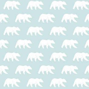 bear (small scale) aviary blue || the lilac grove collection