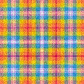 Rainbow plaid