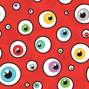 Eyeballs on red