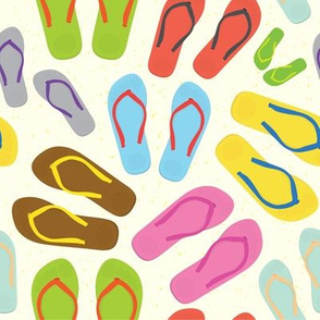 Flip-flops colorful pattern