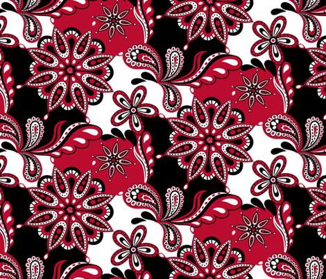 Georgia Paisley Mandala fabric by rickrackscissorsstudio on Spoonflower - custom fabric