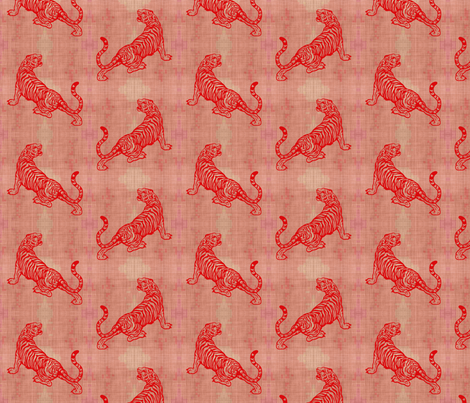 Red Tiger fabric by brainsarepretty on Spoonflower - custom fabric