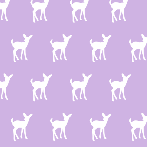 fawn (small scale) lilac || the lilac grove collection fabric by littlearrowdesign on Spoonflower - custom fabric