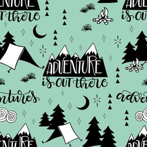 Adventure is out there - Mint background