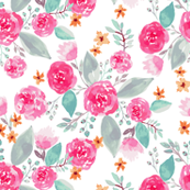 Pink pastel floral