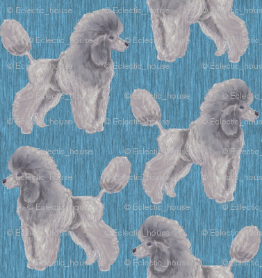 Custom Silver Poodle with Blue 2
