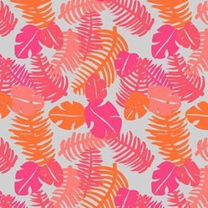 Tropical hawaiian jungle leaf design fresh lush garden for summer pink girls